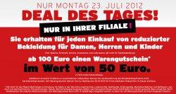 [LOKAL] 50€ Karstadt Gutschein bei einem Einkauf ab 100€ in Karstadt Filialen NUR MONTAG!