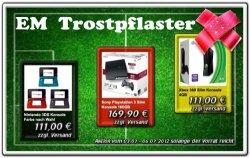 EM-Trostpflaster: PS3 Slim für 169,90 € oder Xbox 360 Slim und Nintendo 3DS für je 111 €