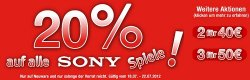 GameStop Sale mit 3 heißen Aktionen (20% auf alle Sony-Spiele, 2 für 40 €, 3 für 50 €)