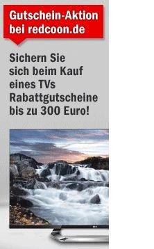Bis zu 300 Euro Rabatt auf TVs und Zubehör @redcoon.de
