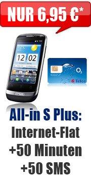 Huawei Ideos X3 für 1 € im All-in S Plus-Tarif (6,95 €/Monat) @handybude