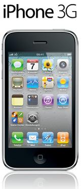 iPhone 3G für 1€ mit Telekom-, SMS- und Internetflat für 9,95 pro Monat bei crash-tarife