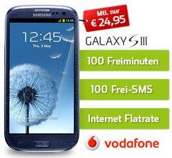 iPhone 4s oder Samsung Galaxy S3 für nur 24,95 Euro/Monat bis 12.7 @pauldirekt.de