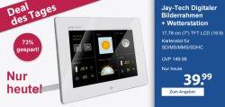 Jay-Tech Digitaler Bilderrahmen inkl. Wetterstation 39,99€ + Versand @Schlecker!