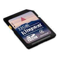 Kingston SDHC Flash 32GB Speicherkarte für 12,14€ kostenloser Versand
