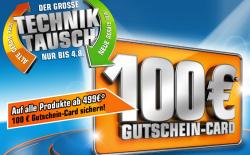 Saturn Techniktauschaktion 100€ Gutschein für Kauf ab 499€ (iPad günstig)