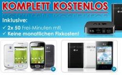 Komplett-Kostenlos Aktion (Smartphones oder Sachprämien für 0 € Zuzahlung) bei eteleon.de