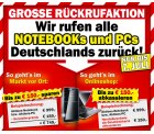 Mediamarkt ruft alle Notebooks und PCs Deutschlands zurück – bis zu 150 Euro Herstellerprämie