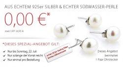 Nur bis Sonntag: KOSTENLOSE Ohrstecker statt 24,95 € (UVP) aus 925er Silber + echte Süßwasserperle + 5 € Neukundengutschein @Silvity.de