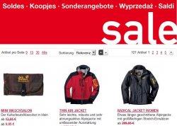 Sale im Onlineshop von Jack Wolfskin mit Rabatten bis zu 30%