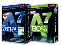 Softwarepaket kostenlos bei pearl, Copy-Suite, Alcohol Virtual & Audio 180%