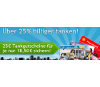 25€ ARAL, Shell oder Esso-Tankgutschein für 18,50€ @Quicker!