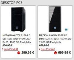 20 Medion Produkte bis 35% reduziert + versandkostenfrei auf meinpaket.de