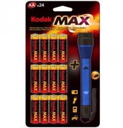 24x KODAK MAX ALKALINE + LED-Taschenlampe 4,99€ inkl Versand @ Ebay!