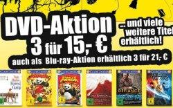 [LOKAL] 3 Blu-ray für 21€ oder 3 DVD´s für 15€ in den ProMarkt Filialen