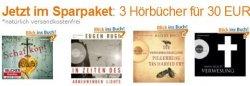 3 Hörbücher für 30€ @Amazon – freie Auswahl aus 203 Titeln