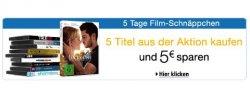 5 Tage Film-Shnäppchen Aktion bei Amazon mit zusätzlich 5 Euro Rabatt beim Kauf von 5 Titeln