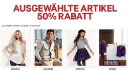 50% Rabatt bei ausgewählte Artikel im H&M Online-Shop, nur bis Donnerstag!