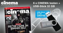 6 x Cinema Abo mit 32GB USB-Stick als Gratis Prämie