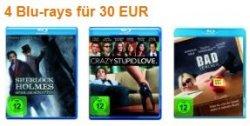 Amazon/Müller: 4 DVDs oder Blu-Rays für 24 € bzw. 30 €