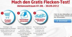 Ariel-Fleckenentferner-Cashback-Aktion – Ariel Produkt komplett kostenlos durch Cashback