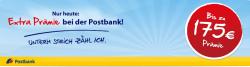 Bis Samstag 11Uhr: 175€ für Eröffnung eines Postbank Girokontos über hier-gibts-was geschenkt