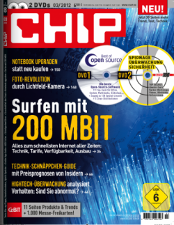 Chip 100 mit 2 DVDs für effektiv 3,80 € im Jahr statt 73,80 €