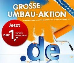 Umbau-Aktion: Domain für 1€ im ersten Jahr & Webspace und Domain für 0,60€ @united-domains.de