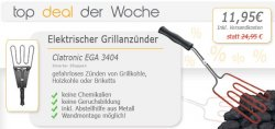 Elektrischer Grillanzünder von Clatronic für nur 11,95! Super Deal 50% Ersparnis