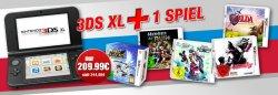 Game-Stop-Bundle: 3DS XL + 1 ausgewähltes Spiel für nur 209,99€