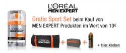 Gratis Sport-Set beim Kauf L´Oréal Men-Expert-Artikeln im Wert von 10€ @Amazon