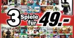 IFA-Aktion bei Media Markt: 3 aktuelle Games (PC, PS3, Wii, Xbox) für 49€