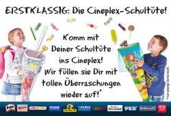 Kostenlos die Schultüte von Cineplex füllen lassen (am 11.08. und 25.09.)