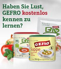 Kostenloses Probierpaket bei Gefro: Tomatensuppe, Universalgewürz und Würzmischung