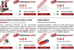Neue Gratisartikel bei druckerzubehoer.de: z.B. LED- Taschenlampe uvm. nur 5,97 € Versand!