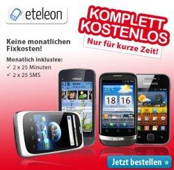 Neue Komplett-Kostenlos Aktion (Smartphones für 0 € Zuzahlung) bei eteleon.de