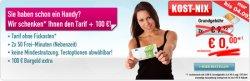 Neue Kost-Nix Action bei Handybude: 100 Euro Bargeld oder Smartphone geschenkt