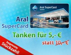 Schnell sein: 10 EUR Aral SuperCard für 5 @ DailyDeal