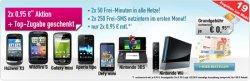 Smartphones und Spielekonsolen fast kostenlos (2x 0,95€ Grundgebühr) @handybude