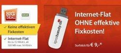 Sparhandy: kostenlose Internetflat (500MB) wieder verfügbar, lediglich 5 Euro für den Stick