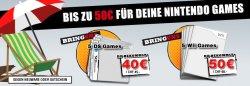 Taschengeld – 50 € für 5 von deinen gebrauchten Spielen @GameStop