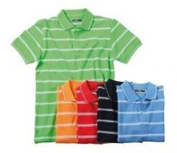 Zweifarbiges Polo-Shirt mit trendigen Streifen für 4,95 inkl. Versand @eBay