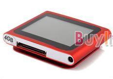 """1.8"""" Touch LCD 4GB 6th MP3 MP4 Player + FM Radio Für 11,27€ mit Versand"""