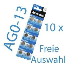 10 x Knopfzellen (Typ wählbar) für 1€ inkl. Versand @ ebay