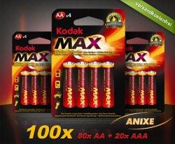 100x Kodak 1,5-Volt-Batterien für nur 14,95 € inkl. Gutschein @DailyDeal