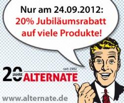 20% Aktion auf verschiedene Produkte/Hersteller bei Alternate am 24.09.