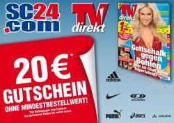 20,- Euro Gutscheincode ohne Mindestbestellwert für sc24.com (6,99 Euro VSK)