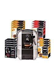 A Modo Mio 16 Packungen á 16 Kapseln + A Modo Mio Espressomaschine Premium für 95 €