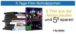 Amazon: 5 Tage Filmschnäppchen – 5 Titel aus der Aktion kaufen und 5 Euro sparen