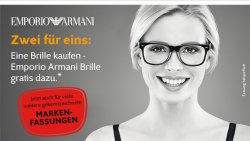 [LOKAL] @Apollo-Optik Filiale – Gutschein: 1 Brille kaufen ab 159€ + 1x Emporio Armani gratis dazu